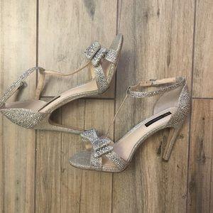 Bow sparkle high heels